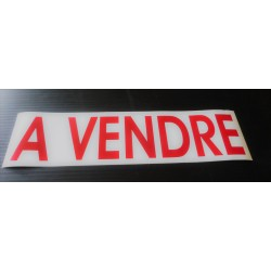 A VENDRE blanc et rouge 13 x 50 cm