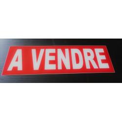A VENDRE rouge et blanc 15 x 50 cm