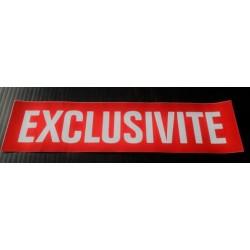 EXCLUSIVITE rouge et blanc 10 x 40 cm