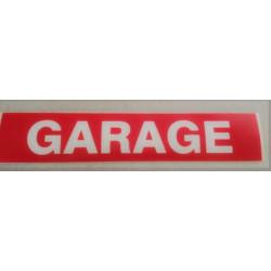 GARAGE rouge et blanc 6 x 30 cm