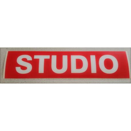 STUDIO rouge et blanc 6 x 25 cm