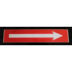 Flèche rouge et blanc 10 x 50 cm