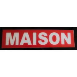 MAISON rouge et blanc 10 x 40 cm