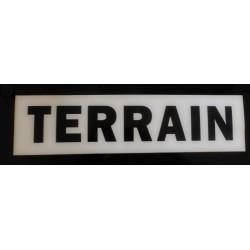 TERRAIN blanc et noir 10 x 40 cm