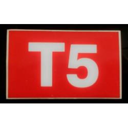 T5 rouge et blanc 6 x 10 cm
