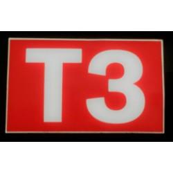 T3 rouge et blanc 6 x 10 cm
