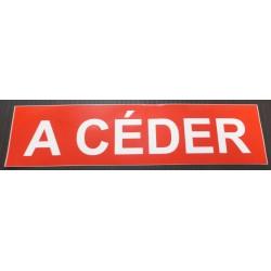 A CEDER rouge et blanc 10 x 40 cm